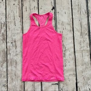 Under Armour Tank Top Fitted Stretchy Pink